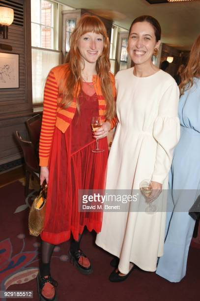 Molly Goddard and Emilia Wickstead attend the Harper's Bazaar lunch to celebrate International Women's Day at 34 Mayfair on March 8 2018 in London...