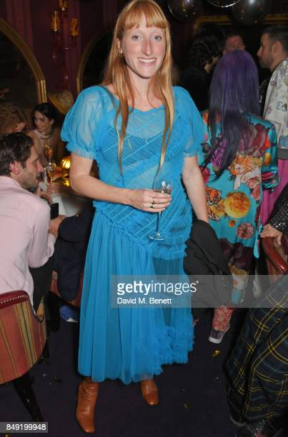 Molly Goddard attends the LOVE magazine x Miu Miu party held during London Fashion Week in association with Perrier Jouet at Loulou's on September 18...
