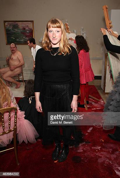 Molly Goddard attends the Molly Goddard presentation during London Fashion Week Fall/Winter 2015/16 at Somerset House on February 20 2015 in London...