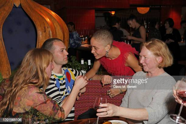 Molly Goddard Thomas Shickle Adwoa Aboah and Margot Henderson attend the LOVE Magazine LFW Party celebrating issue 23 at The Standard London on...