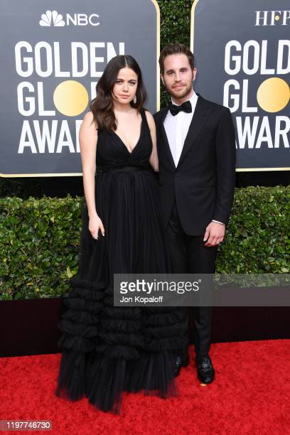 Molly Gordon and Ben Platt attend the 77th Annual Golden Globe Awards at The Beverly Hilton Hotel on January 05 2020 in Beverly Hills California