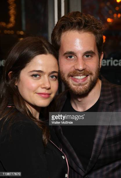 Molly Gordon and Ben Platt attend the Broadway Opening Night of All My Sons at The American Airlines Theatre on April 22 2019 in New York City