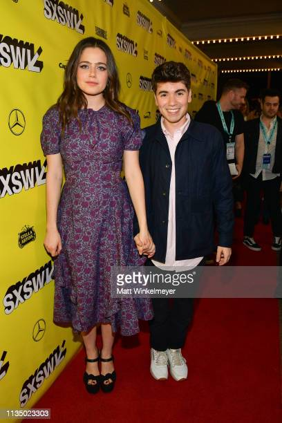 Molly Gordon and Noah Galvin attends the Booksmart Premiere 2019 SXSW Conference and Festivals at Paramount Theatre on March 10 2019 in Austin Texas
