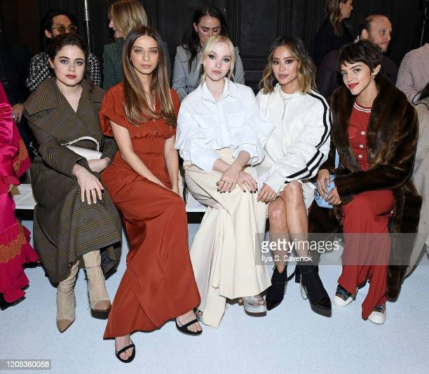 Molly Gordon Angela Sarafyan Dove Cameron Jamie Chung and Calu Rivero attend the ADEAM Fall | Winter 2020 SHOW at the High Line Hotel on February 10...