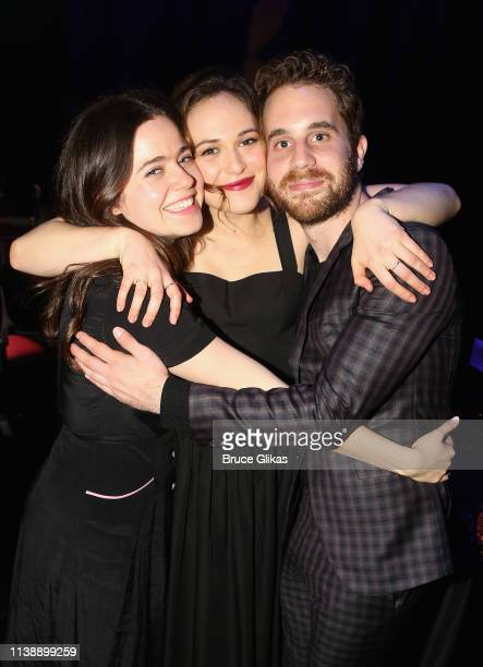 Molly Gordon Francesca Carpanini and Ben Platt pose at the after party for The Roundabout Theater Company's production of Arthur Miller's All My Sons...