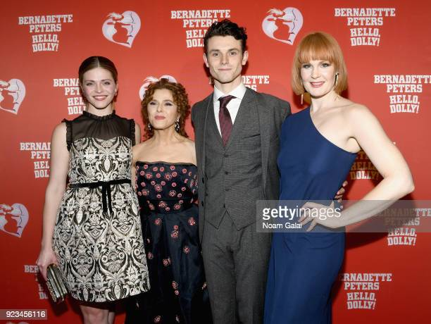 """Molly Griggs, Bernadette Peters, Charlie Stemp and Kate Baldwin attend the opening night of """"Hello, Dolly!"""" on Broadway at Sardi's Restaurant on..."""