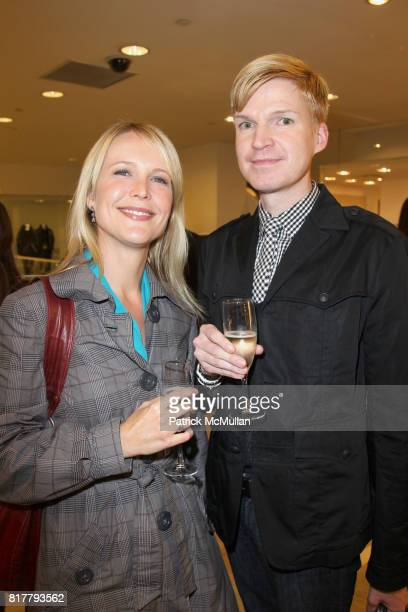 Molly Hagan and Sixten Westwoodhaven attend VANITY FAIR BLOOMINGDALE'S Check it Out Exhibition at Bloomingdale's 59th St on October 14th 2010 in New...