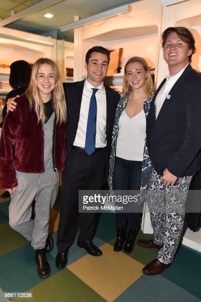Molly Hord Mark Petrone Jane Warnock and Hayden Arnot attend JMcLaughlin Shopping Event to benefit Save the Children at JMcLaughlin on April 5 2018...