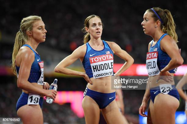 Molly Huddle of the United States speaks after the competes in the Women's 10000 metres during day two of the 16th IAAF World Athletics Championships...