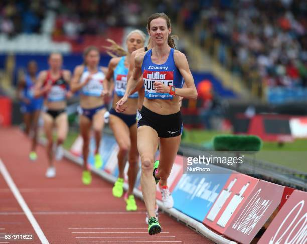 Molly HUDDLE of USA competes in the 3000m women during Muller Grand Prix Birmingham as part of the IAAF Diamond League 2017 at Alexander Stadium on...