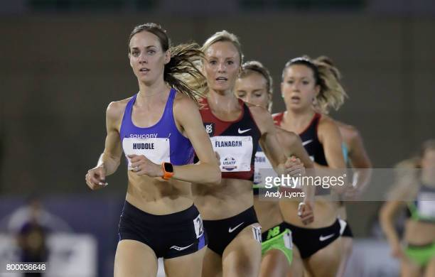 Molly Huddle runs to victory in the Womens 10.000 Meter Final during Day 1 of the 2017 USA Track & Field Championships at Hornet Satdium on June 22,...