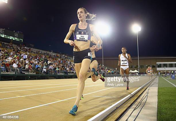 Molly Huddle wins the Women's 5000 Meter Run on day 3 of the USATF Outdoor Championships at Hornet Stadium on June 27, 2014 in Sacramento, California.