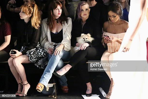 Molly Kate Bernard Brooke Dulien Kelly Osbourne and Bonang Matheba attend the John Paul Ataker fashion show during New York Fashion Week The Shows at...