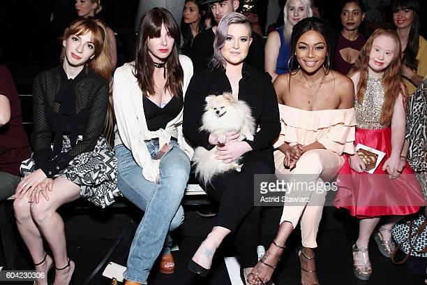 Molly Kate Bernard Brooke Dulien Kelly Osbourne Bonang Matheba and Madeline Stuart attend the John Paul Ataker fashion show during New York Fashion...