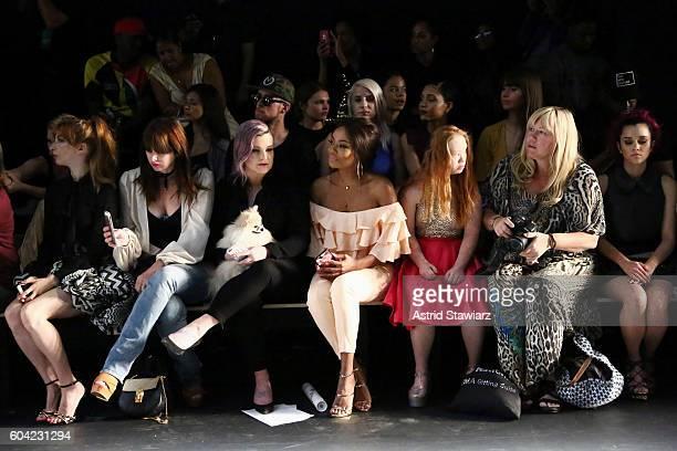 Molly Kate Bernard Brooke Dulien Kelly Osbourne Bonang Matheba Madeline Stuart and singer Megan Nicole attend the John Paul Ataker fashion show...
