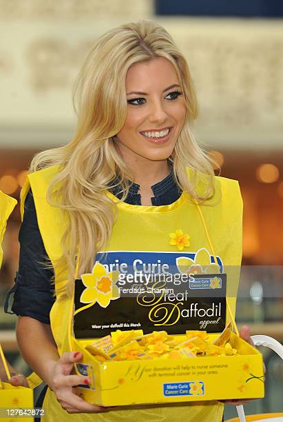 Molly Keane collects money for the Marie Curie Cancer Care's Great Daffodil Appeal at Westfield on March 12, 2011 in London, England.