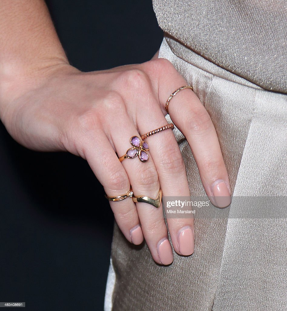 Molly King (ring detail) attends a special screening of 'Gucci And Vanity Fair: The Director' at The Curzon Mayfair on April 8, 2014 in London, England.