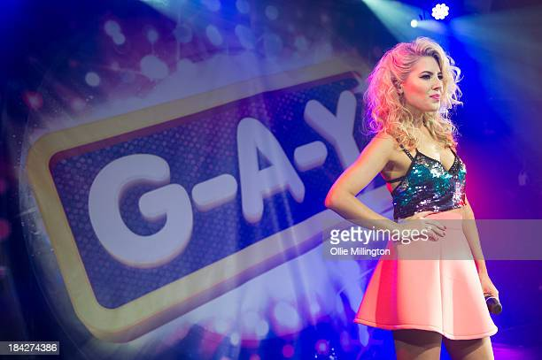 Molly King of The Saturdays performs at GAY on October 12 2013 in London England