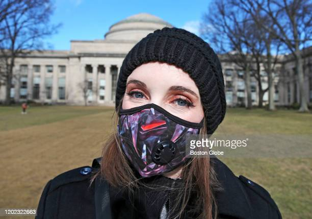 Molly Kruko pictured at MIT in Cambridge on Feb 12 has a compromised immune system and wears a protective mask the majority of the time