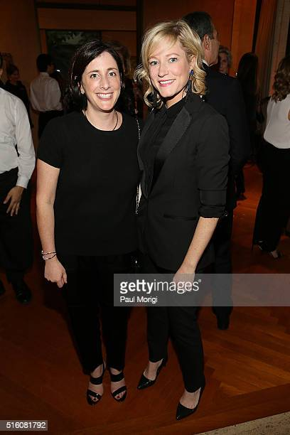 Molly Levinson and Jennifer Tapper attend the ELLE and Hugo Boss Women in Washington Power List Dinner at the Kreeger Museum on March 16 2016 in...