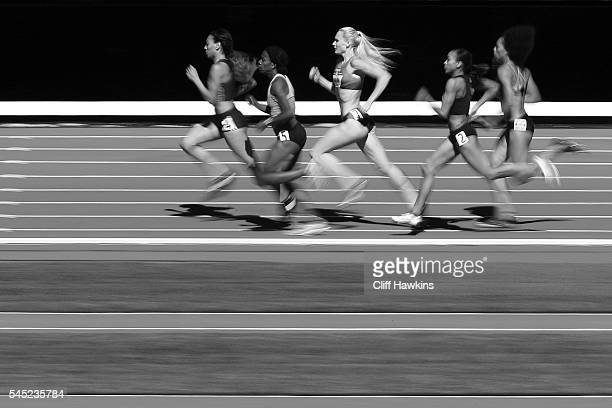 Molly Ludlow runs in the first round of the Women's 800 Meters during the 2016 US Olympic Track Field Team Trials at Hayward Field on July 1 2016 in...