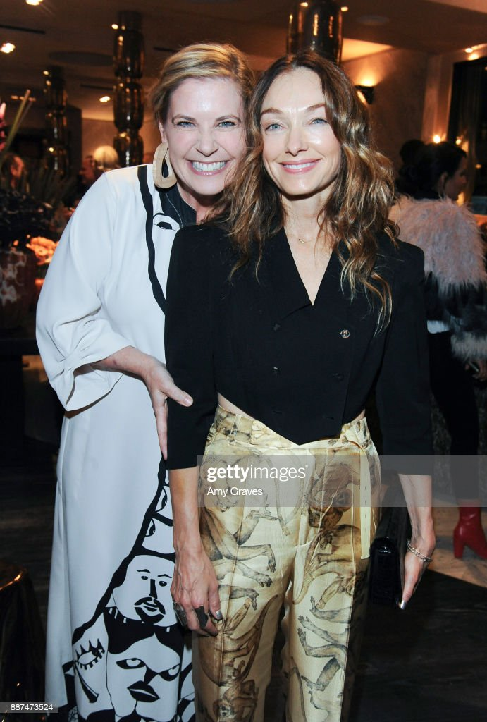 Molly Luetkmeier and Kelly Wearstler attend Kelly Wearstler hosts 'The Authentics' book signing launch party for Melanie Acevedo and Dara Caponigro at Kelly Wearstler Boutique on December 6, 2017 in West Hollywood, California.