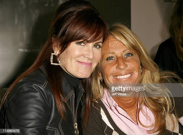 Molly Madden and Cynthia PettDante during Coach Fragrance Launch to Benefit EBMRF in Los Angeles California United States