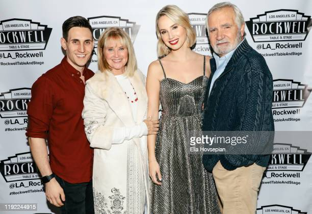 Molly McCook and John Krause with John McCook and Laurette Spang  at Rockwell Table and Stage on December 05 2019 in Los Angeles California