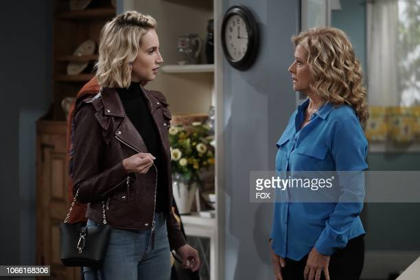 Molly McCook and Nancy Travis in the Giving Mike The Business episode of LAST MAN STANDING airing Friday Oct 12 on FOX