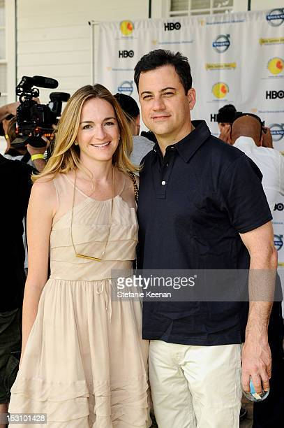 Molly McNearney and Jimmy Kimmel attend LA Loves Alex's Lemonade At Culver Studios at Culver Studios on September 29 2012 in Culver City California