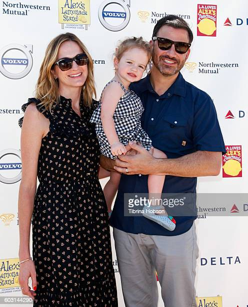 Molly McNearney Jane Kimmel and Jimmy Kimmel attend the 7th annual LA Loves Alex's Lemonade at UCLA on September 10 2016 in Los Angeles California
