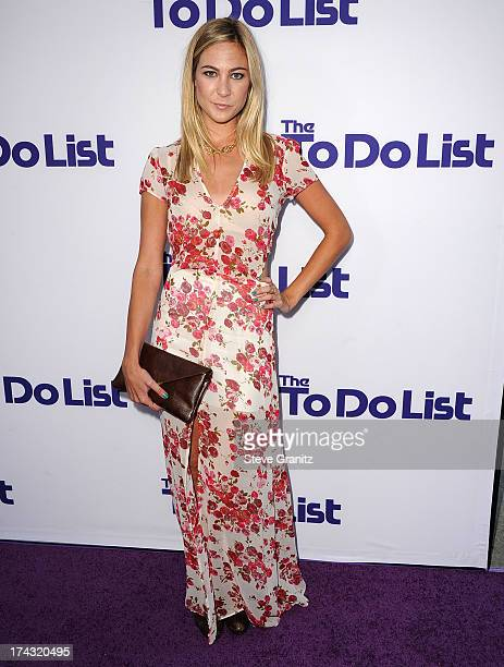 Molly McQueen arrives at the CBS Films The To Do List at Regency Bruin Theatre on July 23 2013 in Los Angeles California