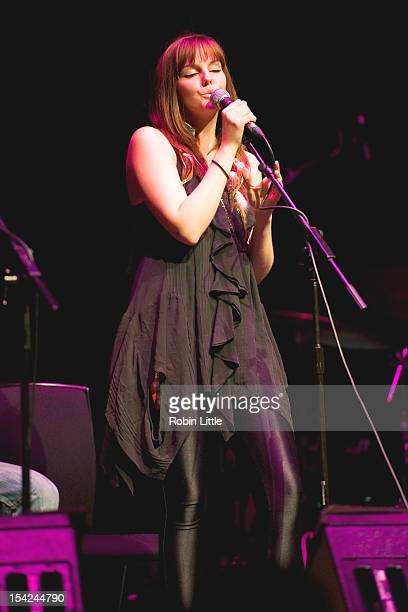 Molly McQueen performs on stage at Barbican Centre on October 16 2012 in London United Kingdom
