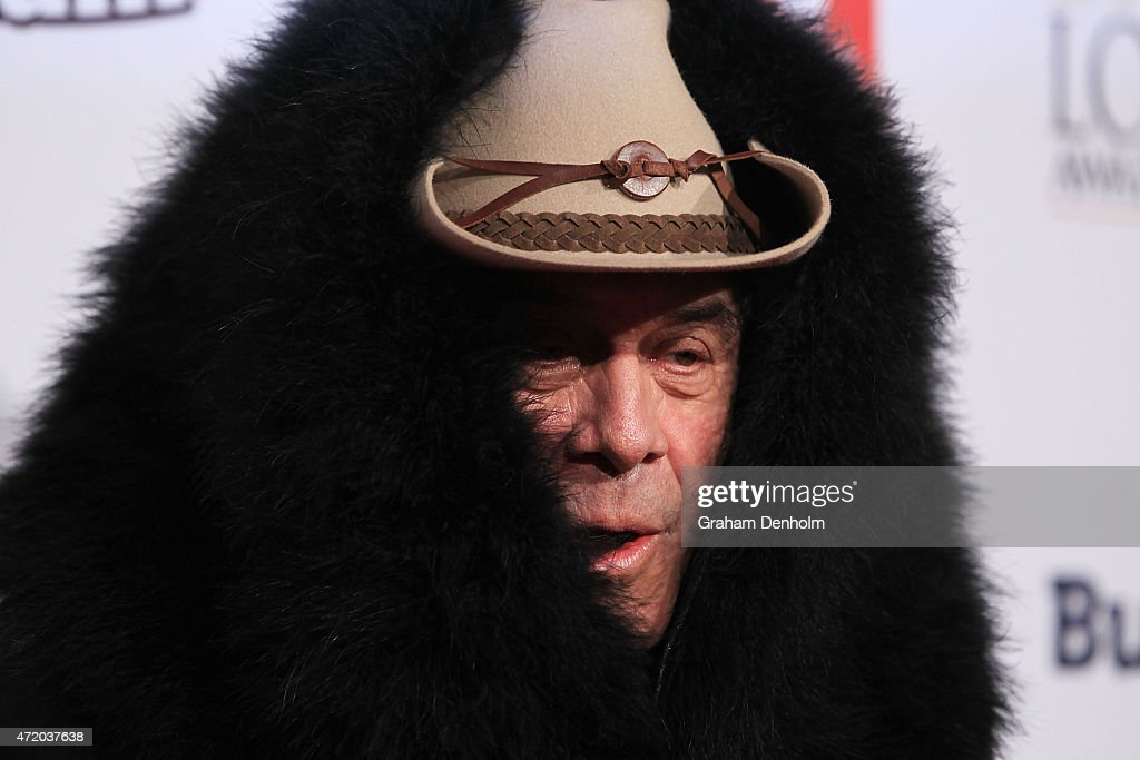 Molly Meldrum arrives at the 57th Annual Logie Awards at Crown Palladium on May 3, 2015 in Melbourne, Australia.
