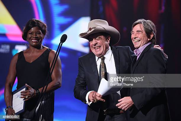 Molly Meldrum receives induction to the ARIA Hall of Fame during the 28th Annual ARIA Awards 2014 at the Star on November 26 2014 in Sydney Australia
