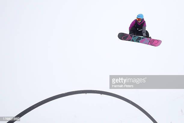 Molly Milligan of Canada competes in qualifying for FIS Snowboard Slopestyle World Cup Finals during day five of the Winter Games NZ at Cardrona...