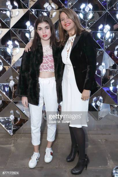 Molly Moorish and Lisa Moorish attend a Christmas Party at Rosewood London to celebrate the launch of Rosewood Mini Wishes in aid of Great Ormond...