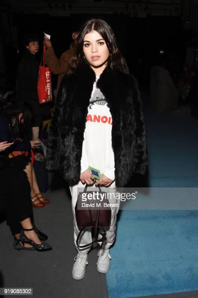 Molly Moorish attends the Ashley Williams show during London Fashion Week February 2018 at Ambika P3 on February 16 2018 in London England