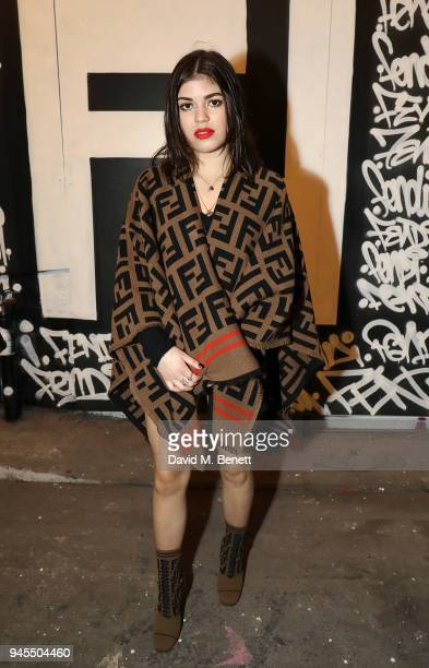 Molly Moorish attends the FENDI FF Reloaded Experience on April 12 2018 in London England