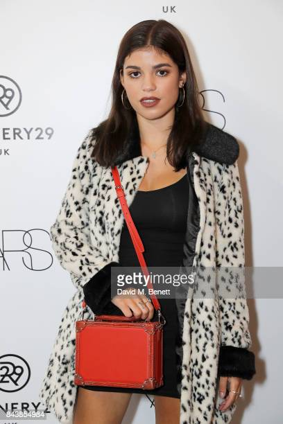 Molly Moorish attends the launch of the Refinery29 and NARs cosmetics Power Mouth exhibition at Protein Studios on September 7 2017 in London England