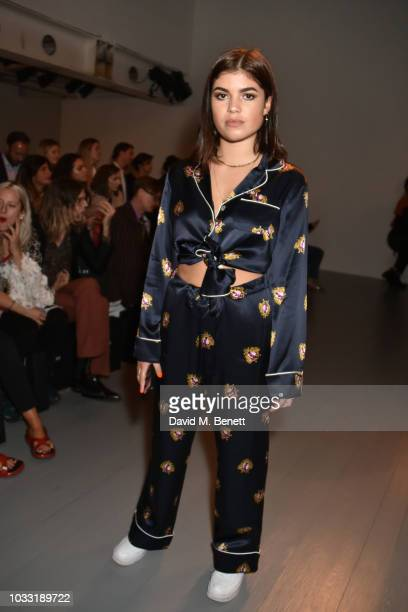 Molly Moorish attends the Matty Bovan front row during London Fashion Week September 2018 at the BFC Show Space on September 14 2018 in London England
