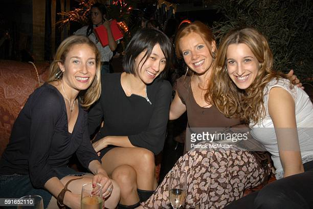 Molly Nover Eva Chen Sara Kraft and Andrea Laventhal attend Lucky Number 6 Fragrance Launch from Lucky Brand Jeans at Buddah Bar on May 16 2006 in...