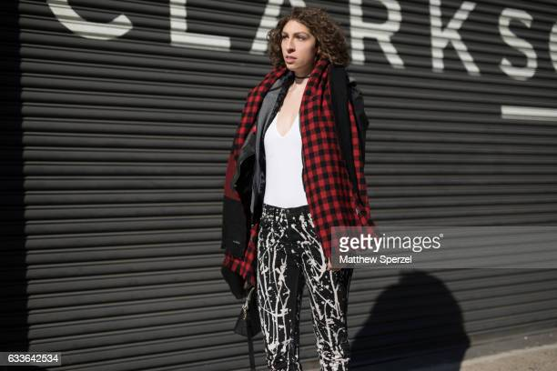 Molly Obrien is seen attending Loris Diran/Bode/Combatant Gentlemen while wearing Rag and bone pants American Apparel top and Athleta scarf on...
