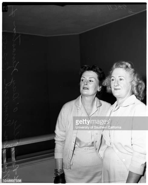 Molly O'Day Kenaston in court 2 March 1956 Molly O'Day Kenaston Mrs Don Cameron James M KenastonCaption slip reads 'Photographer Gaze Date Reporter...