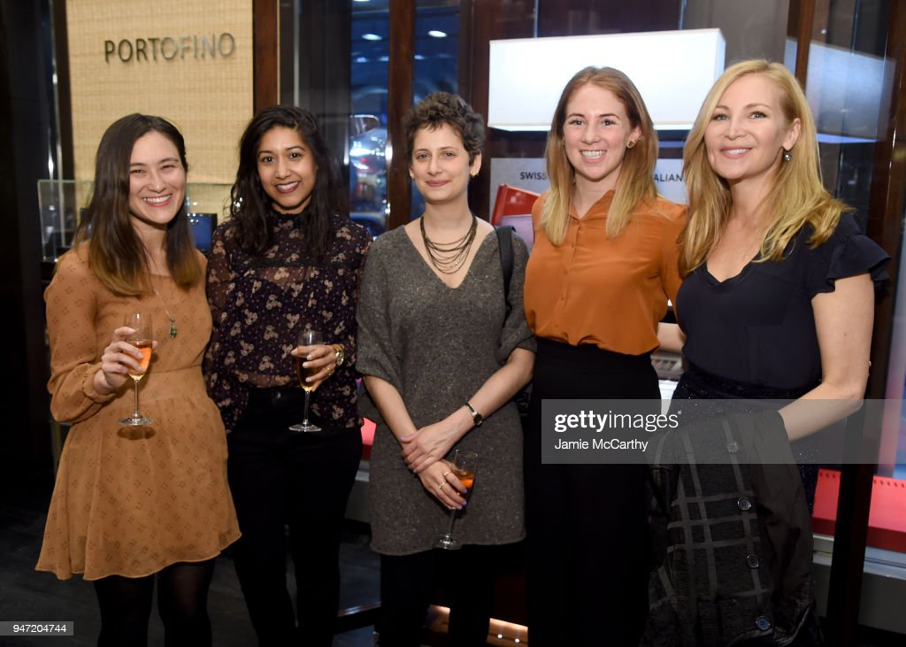 Molly O'Keefe, Jennifer Westfeldt (R) and guests attend the IWC Tribeca Film Festival Filmmaker Award Celebration on April 16, 2018 in New York City.