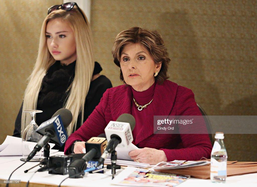 Gloria Allred Press Conference : News Photo