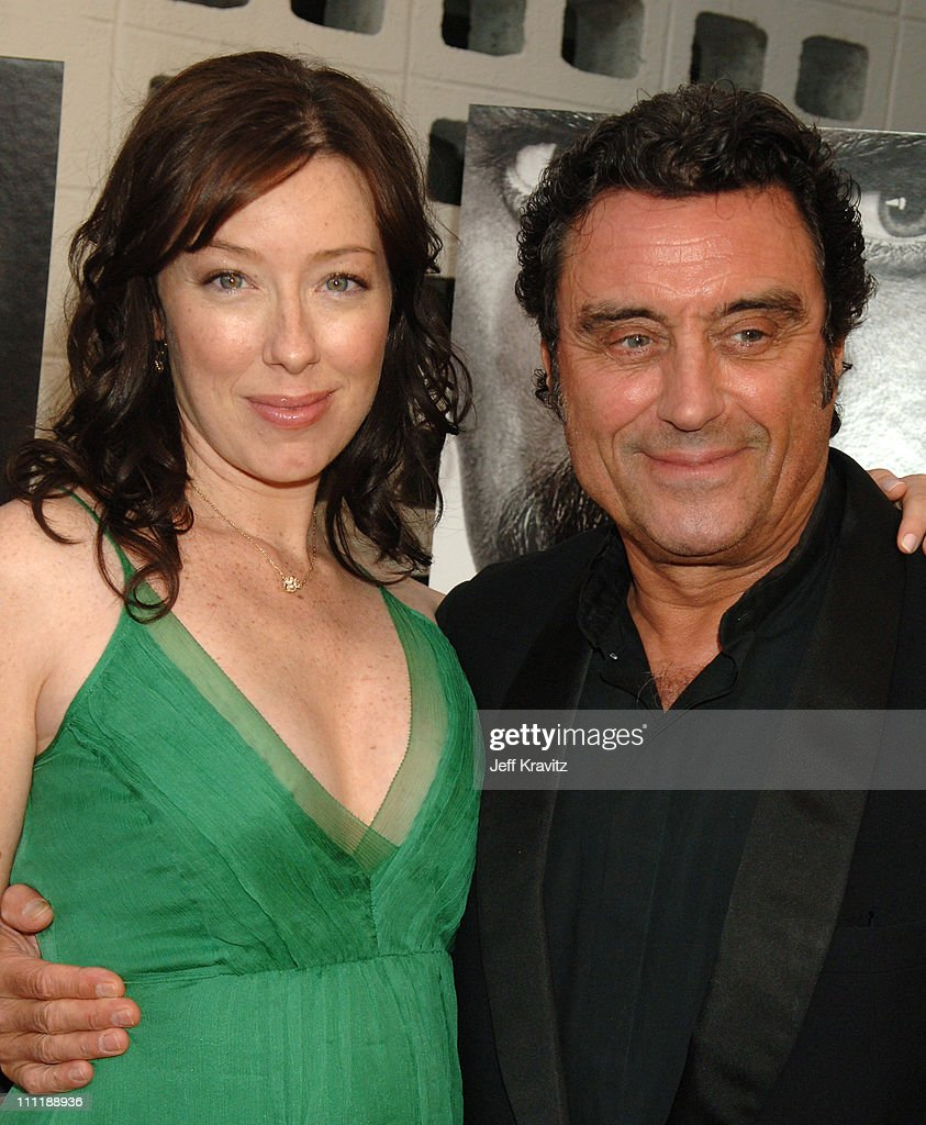 Molly Parker and Ian McShane during 'Deadwood' Season Premiere - Red Carpet at Cinerama Dome in Hollywood, California, United States.