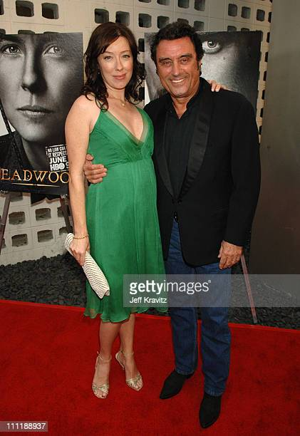 Molly Parker and Ian McShane during 'Deadwood' Season Premiere Red Carpet at Cinerama Dome in Hollywood California United States
