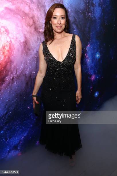 Molly Parker attends Netflix's 'Lost In Space' Los Angeles premiere on April 9 2018 in Los Angeles California