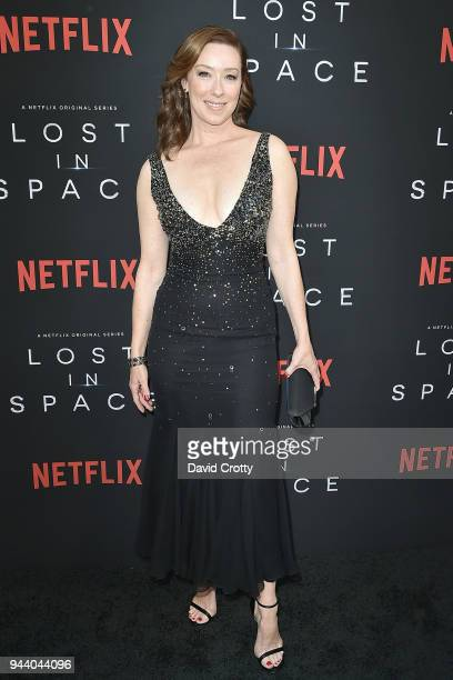 Molly Parker attends the Lost In Space Season 1 Premiere at ArcLight Cinerama Dome on April 9 2018 in Hollywood California